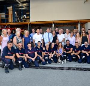 Un hommage appuyé de la ville aux sapeurs-pompiers