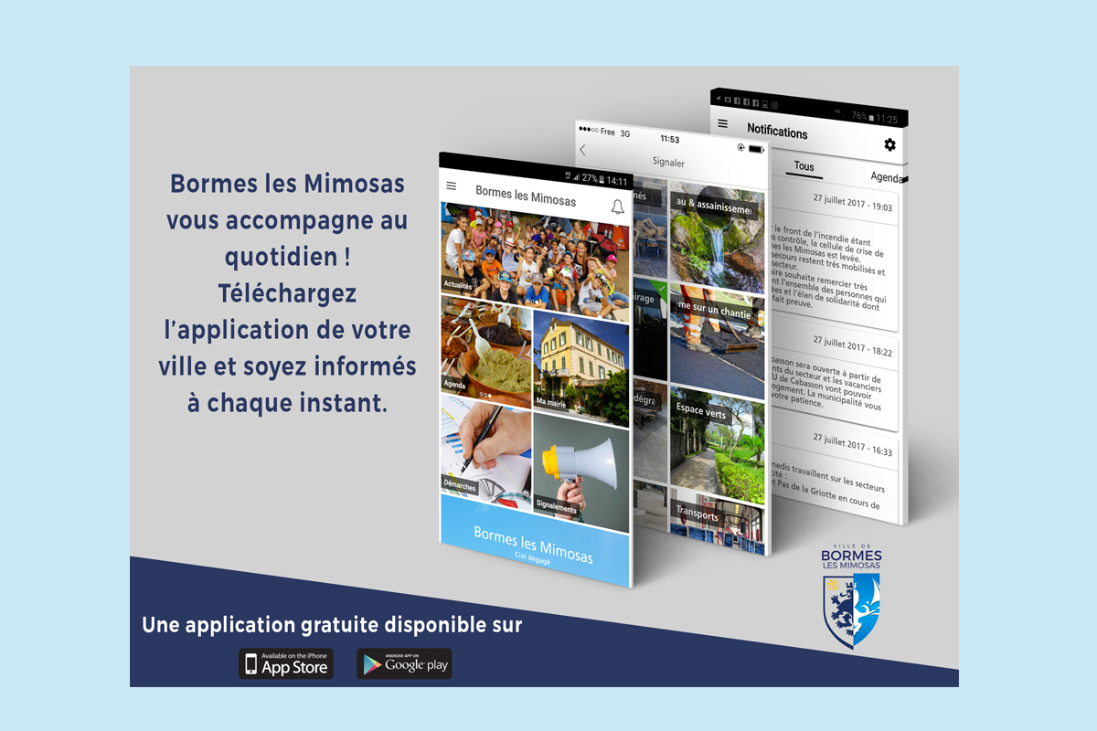 "Application ""Bormes les Mimosas"""